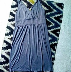 🌠 Merona Gray Sleeveless Midi Dress Sz L 🌠